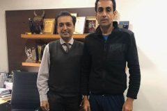 Dr. Prateek with Manavjit Sindhu ace trap shooter after treatment of back