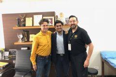 Dr Pratyaksh with Team of Cirque du soleil
