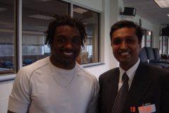 Dr. Prateek with Cedric Myron Benson American professional footballer
