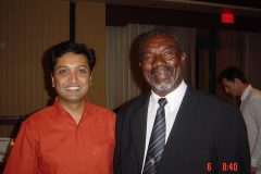 Dr. Prateek with sir Charlie Griffith West Indies cricketer