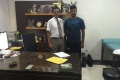 R P Singh Indian cricketer treated by Dr. Prateek