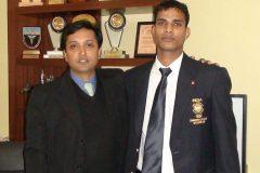 Riyaz Uddin national basketball player treated for Dislocated shoulder by Dr. Prateek