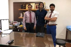 Shapoor Zadran Afghanistan pace baller with Dr. Prateek after treatment for back pain
