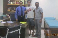 Yuki Bhambri Indian tennis player treated by Dr. Prateek Gupta